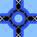 Map Navigation Crossroads Icon