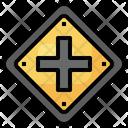 Crossroads Regulation Road Signs Icon