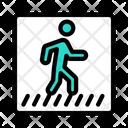 Crosswalk Pedestrian Road Icon