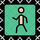 Crosswalk Traffic Board Icon