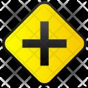 Crossway Cross Sign Icon