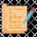 Crossword Pencil Magazine Icon