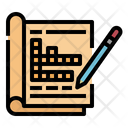 Crossword Pencil Magazine Icon