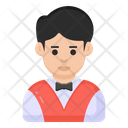 Casino Dealer Casino Boy Croupier Icon