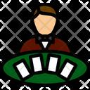 Croupier Casino Poker Icon