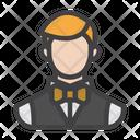 Croupier Male Croupier Butler Icon