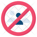 Crowd Not Allowed People Icon