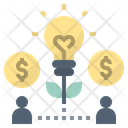 Crowdfunding Fund Idea Icon