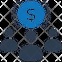 Crowdfunding Fundraising Investors Icon