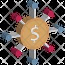 Dollar Business Crowdfunding Icon