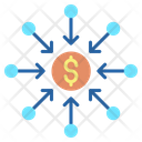 Crowdfunding Dollars Icon