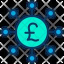 Crowdfunding Pound Icon