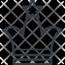 Crown Designing King Icon