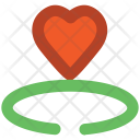 Crown Heart Sign Icon