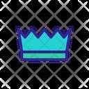 Crown Contour King Icon