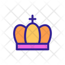 Crown Coins Contour Icon