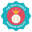 League Competition Logo Crown Ball Badge Ball Label Icon