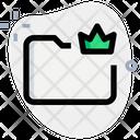 Crown Folder Crown King Icon