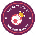 League Competition Logo Crown Football Badge Football Label Icon