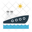 Cruise Ship Boat Icon