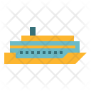 Cruise Ship Transportation Icon