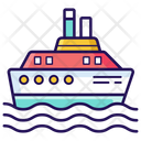 Delivery Ship Cruise Water Cargo Icon