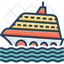 Cruise Ship Travel Icon