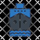 Cruise Ship Travel Icon