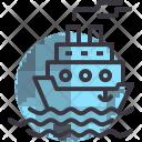 Cruise Ship Sea Icon