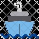 Cruise Boat Travel Icon