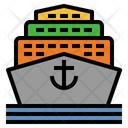 Cruise Yacht Ferry Boat Icon