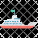 Cruise Merchant Ship Icon