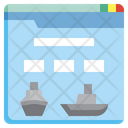 Cruise Booking Website Icon