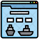 Cruise Booking Website Online Booking Website Browser Icon