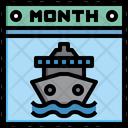 Cruise Calendar Calender Time Icon