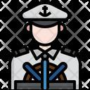 Cruise Captain Captain Sailor Hat Icon