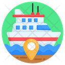Ship Location Cruise Location Ship Navigation Icon