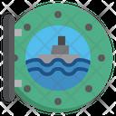 Cruise Port Board Port Board Porthole Icon