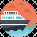 Transportation Sea Route Icon