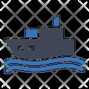Cruise Ship Vacation Icon