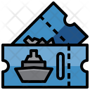 Cruise Ticket Ship Ticket Boat Ticket Icon
