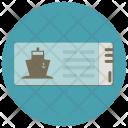 Cruise Ticket Document Icon