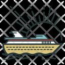 Cruise Voyage Ship Icon