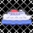 Cruiser Ship Transportation Icon