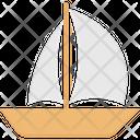 Cruiser Sailing Boat Ship Icon