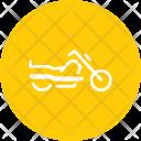 Cruiser Motorcycle Motorbike Icon