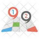 Crumpled Map Icon