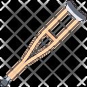 Crutch Disabled Medicine Icon