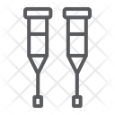 Walking Crutches Support Icon