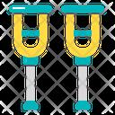 Crutch Crutches Medical Icon